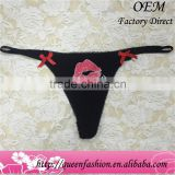 Hot selling kiss pattern printing string custom size l thong