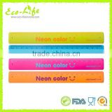 Silicone Slap Bracelet, Silicone Slap Wirstbands with ruler printing, Souvenirs Promotion Gift