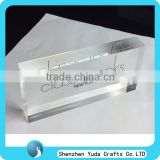 custom design hand made lucite clear logo block favorable price plexiglass block acrylic