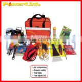 H90163 Car emergency combination tools air compressor, booster cable, tool case, tire repair kits V-QZH68