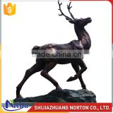 Brown life size bronze deer sculpture for collection NTBH-048LI