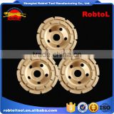 "115mm double row diamond grinding wheel 4.5"" abrasive polishing disc for concrete granite marble double cup wheel"