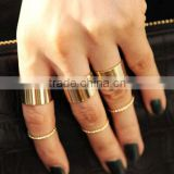 wholesale fashion jewelry ladies gold finger ring set midi ring set