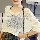 New fashion stripes ladies winter turtleneck knitted sweater, Korean female T-shirt sweater shirt pierced