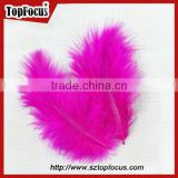 wholesale Colorful natural decorations Turkey marabou loose bulk feathers