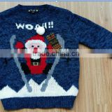 High Quality Customized crew-neck christmas pullover sweater, round collar ugly christmas sweater (BKNK26)