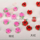 Wholesale Matte Ceramic Artificial Blooming Rose Beads
