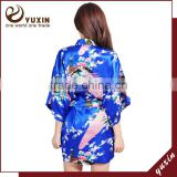 Satin wedding robes silk bridal party bathrobes robe de soiree RS1-0045