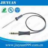 Microwave oven meat probe sensor, food grade toaster temperature NTC 50K sensor with silicone handle