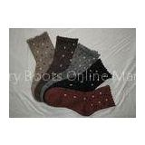 Colorful Knitted Acrylic Womens Wool Socks Polyester Jacquard For Winter