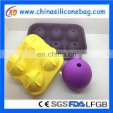ice cube tray/customized silicone ice round ball trays