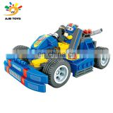 Low price skillful manufacture plastic building 216PCSCard Ding vehicle blocks toy