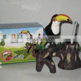 2014 plastic electric emulated sound control dancing big mouth parrot/ bird
