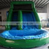 Top quality Blue and green inflatable water slide with pool