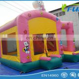 hello kitty inflatable bouncer/inflatable bouncer slide/cheap inflatable bouncer for kids