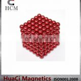 Colorful Neodymium 5mm Red magnetic ball toy