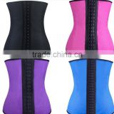 100% Latex Waist Trainer Cincher Boned Corset Underbust XS-6XL