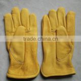 "10""AB grade cow grain leather winter car driving gloves /safety working gloves with full linning"