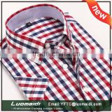 Hot sales 2016 trendy short sleeve men shirt/2016 fashional short sleeve men shirt/plaids shirts for men with manufacture price