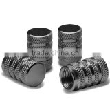 Alloy Coated Thread Aluminum Chrome Tire Valve Stem Caps (Pack of 4)