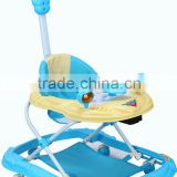 Plastic Round Toy Baby Walker With Push Bar BM1313P