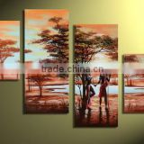 Beautiful african landscape modern hand painted Canvas Acrylic Decoration oil painting                                                                         Quality Choice