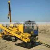 60T back force ,HFDP-60 hydraulic horizontal drilling rig with pipe rack, laying of electricity/comminications cable