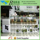 display fruit and vegetables used wooden glass showcase booth, fruit vegetable display rack