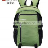 2014 fashion bright green contemporary design waterproof durable nylon survival backpack