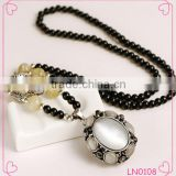 Fashion rosary bead necklace Crystal opals fashion Jewelry South Korea's sweater chain