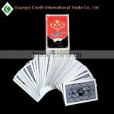 Custom High quality printing bridge size 300gsm paper playing cards with logo