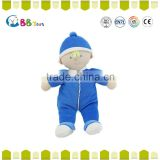 Carrefour Certified factory ICTI audits manufa cturer OEM plush toys blue plush dolls for baby