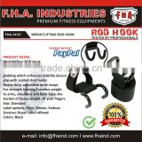 Power Lifting Rod Hook, Training Gym Straps, Bodybuilding Hook With Customized Logo Heavy-Duty Weight Lifting Hooks Grips by FHA