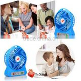 Popular Portable Mini Fan Rechargeable Cooling Cooler mini Fan USB or18650 Li-Thium Battery Operated Fan