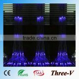 6*3M 640LEDs CE ROHS SAA approved LED Christmas curtain string light indoor LEDstage waterfall lights 220V/110V