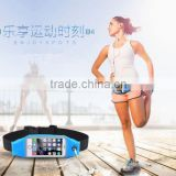 New design fanny pack sport money belt with touch screen airphone hole waterproof running bag