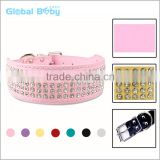 Full Shine Diamante Decorative Rhinestone Western Leather Dog Collars                                                                         Quality Choice