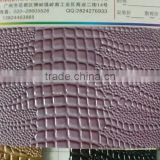 leather supplier from china PU leather with embossing for shoe (Cuero sintetico para calzado)
