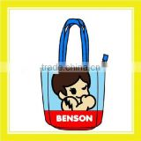 2016 Fashion Product Bros Benson Polyester Unisex Casual Blue Tote Bag
