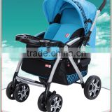 fashionable baby stroller jogger baby pram pushchair with dinning tray and drink tray
