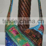 Hottest selling Indian Shoulder bags,Bohemian Style Gypsy Boho Bag with Hand Embroidered Elephant Designe hippie shoulder bags