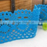 Quality best sell blue lace fabric cotton laces