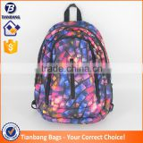 China Supplier Fashion Backpacks 600D Backpacks Abstract Geometrical Pattern Backpacks Teenagers