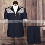 China custom fabric men printed sweat suit
