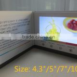 Paper Greeting Cards with LCD Screen to Display Advetising Video, Portable Video Advertising Machine