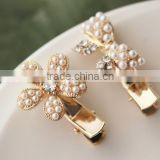 elegant beads hair clip design hair accessory for women