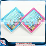 newest 2D pad spanish&english multifunction learning machine pink/blue educational pad toys for kids gw-tys2921o