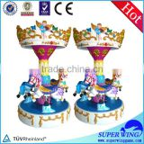 Angel Carousel amusement mechanical horse kids rides for sale