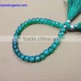 "Do not have the style of the green agate handmade 6-15 mm surface box shaped, 7 ""chain length of 100% natural stones"
