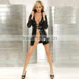 sexy costumes women Faux Leather erotic catsuit Clubwear Stripper sexual abuse sexy coat open